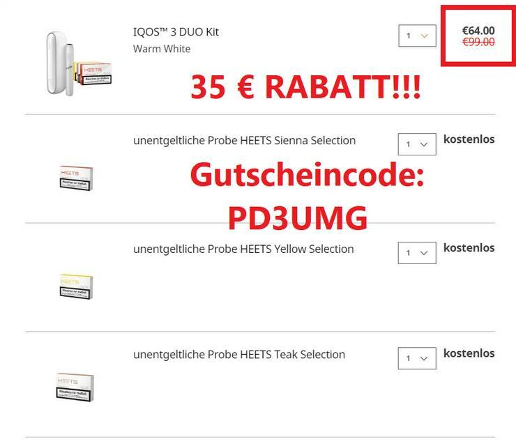 Bild 3: Hol dir 35€ IQOS-Rabatt und Heets im Wert von 36€ für deine IQOS 3 DUO - PD3UMG