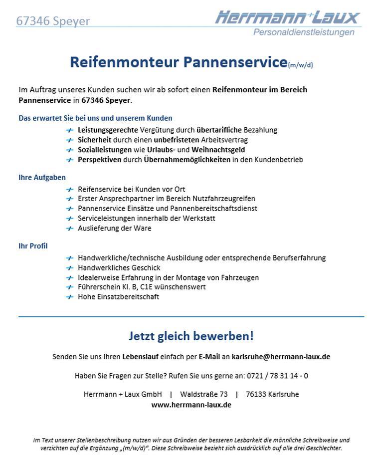 Reifenmonteur Pannenservice(m/w/d) - Weitere - Bild 1