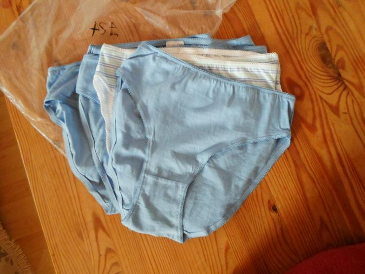 NEU 7x Damenslips 100% Bio-Baumwolle Gr. 36/38 blau