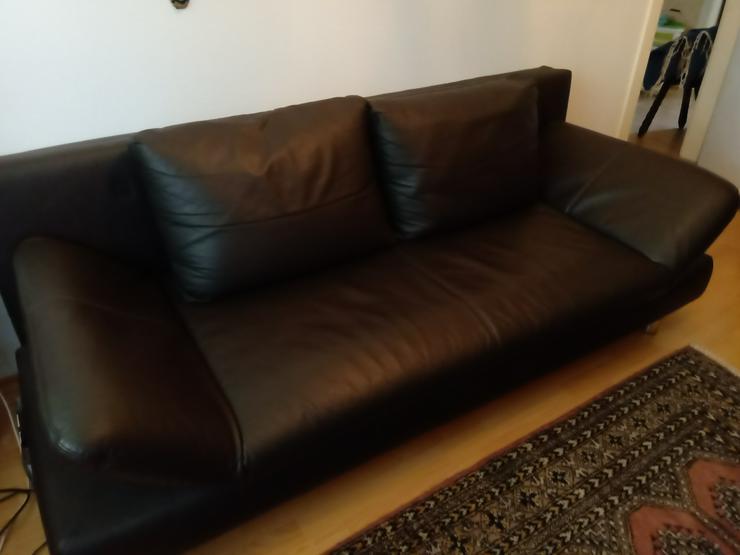 Ledersofa mit Schlaffunktion  - Sofas & Sitzmöbel - Bild 1