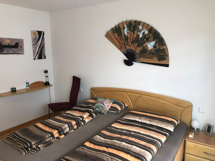 Komplettes Schlafzimmer (teilmassiv, Birke Rubin)