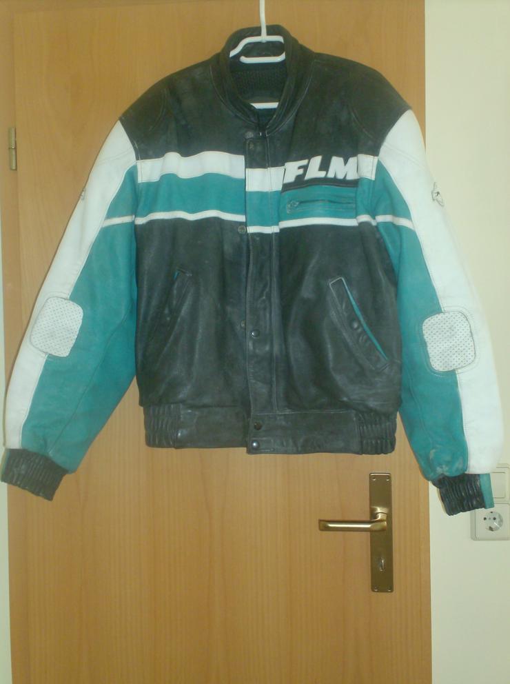 "FLM (Polo) Motorradjacke ""Echtes Leder"" GEBRAUCHT"