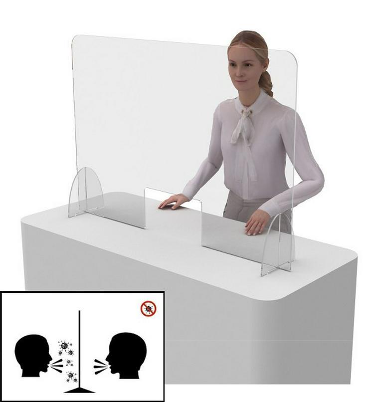 Trennwand (Schutzschirm) mit Beinen (Acrylglas).
