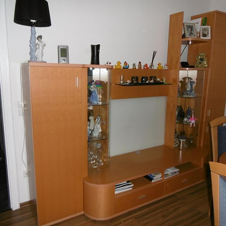 Bild 3: Wohnzimmerschrank Kirschholz massiv 3,50 m