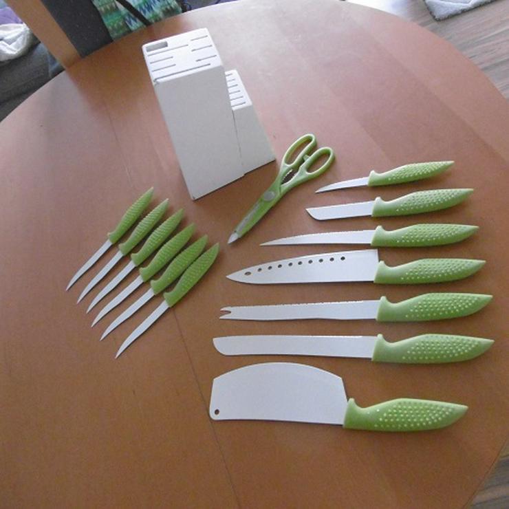 Messerblock mit Keramikmesser und Schere 15 Teilig