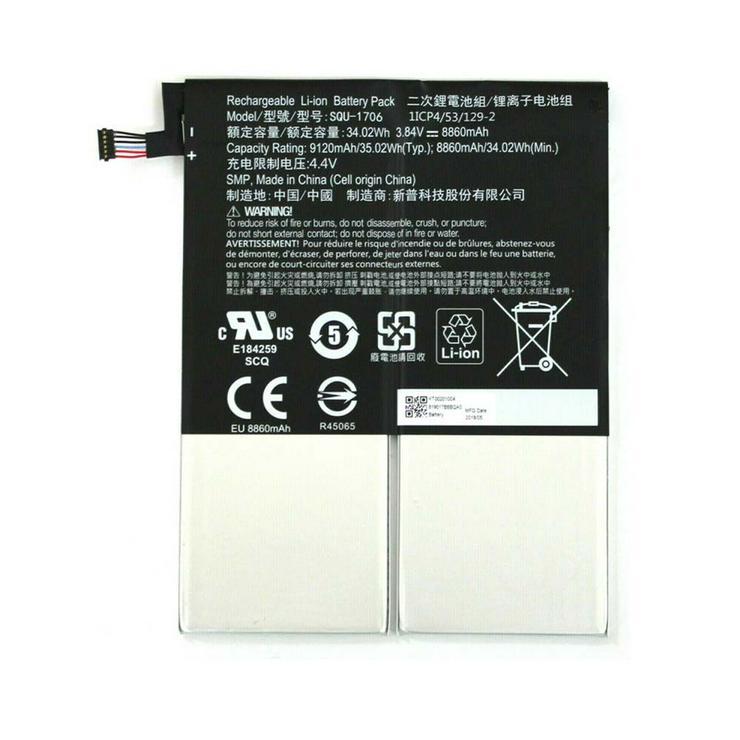 Acer SQU-1706 Akku für Acer Chromebook Tab 10, 8860MAH/34.02WH, 3.84V/4.4V, Batterien - Akkus - Bild 1