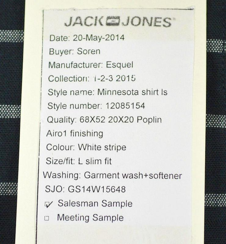 Bild 2:  Jack & Jones Minnesota Shirt Hemd Gr.L Hemden Shirts 3-1189