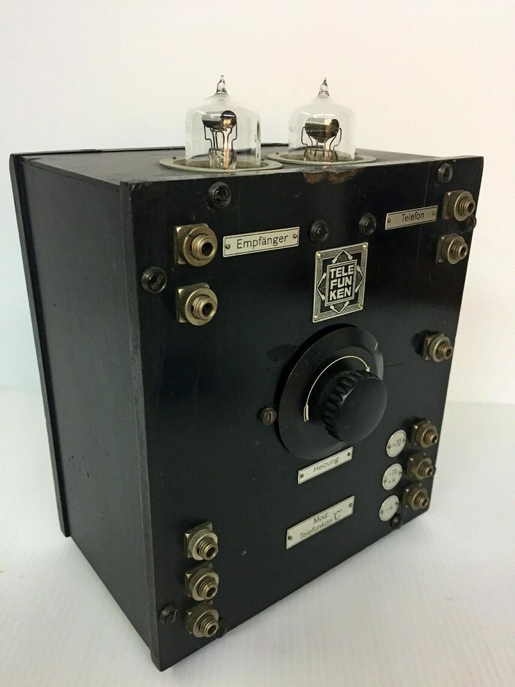 Bild 2: Telefunkon C - D-Zug, Telefunken, 2x Röhre RE11