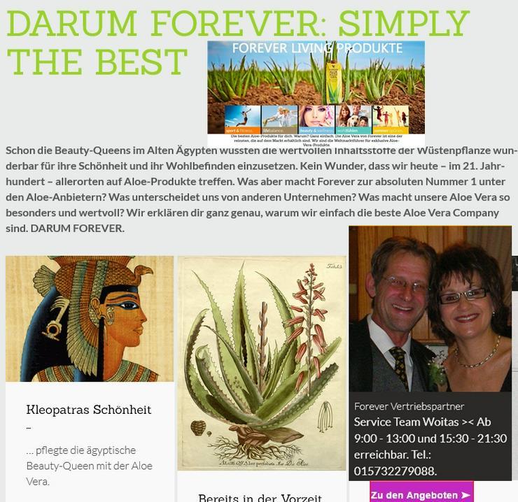 Bild 6: Forever living Aloe Vera Produkte