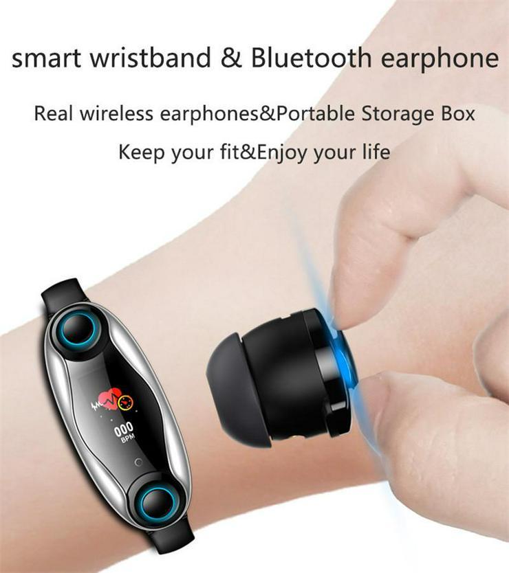 Fitness Armband Drahtloser Bluetooth Kopfhörer 2 In 1 Bluetooth 5