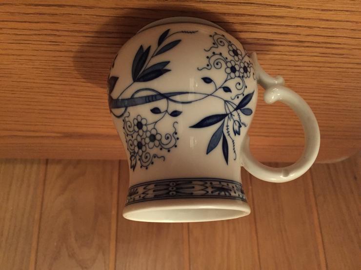 Bild 2: Hutschenreuther - Vase mit Henkel - Zwiebelmuster (nach 1969)