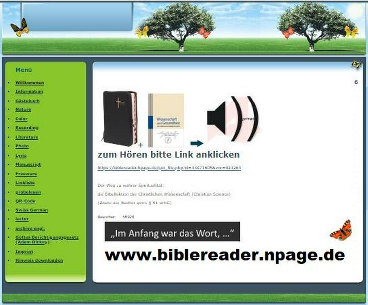 Vorleser für Bibelfreunde täglich von Null bis 24 Uhr - Lebenshilfe - Bild 1