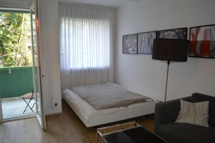 Ruhige möblierte 1 Zimmer Wohnung mit Balkon, Berlin Mitte Wedding für 12-24 Monateinkl. Strom und Internet