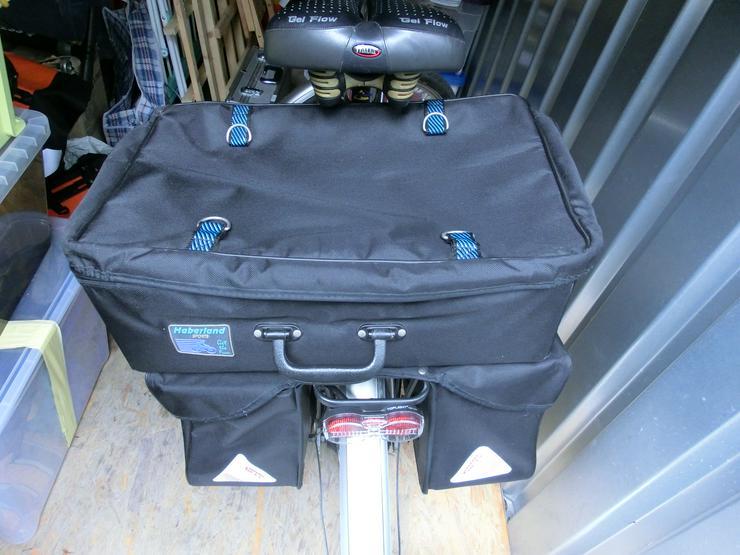 Bild 2: Gepäckträgertasche mit Aufsetz-Koffer von Haberland