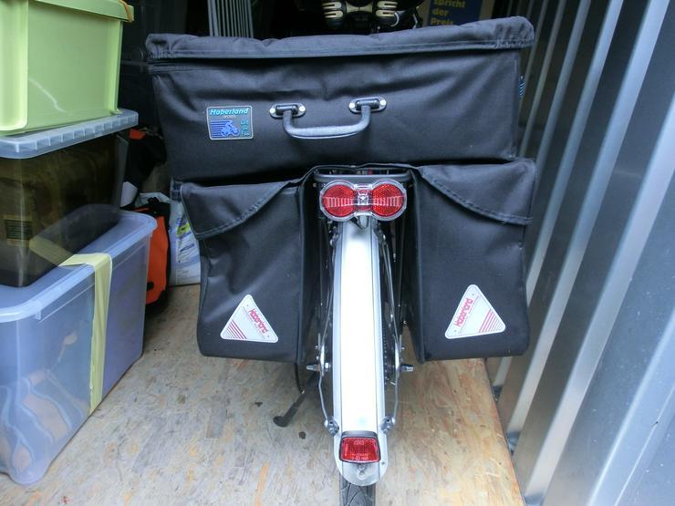 Gepäckträgertasche mit Aufsetz-Koffer von Haberland