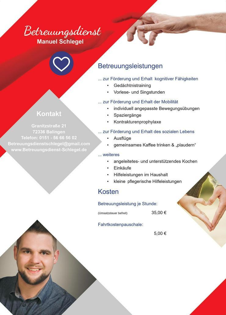 Bild 2: Betreuungsdienst Manuel Schlegel - häusliche Betreuungsleistungen im Zollernalbkreis