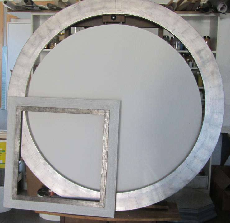 Eichen Rahmen, rund