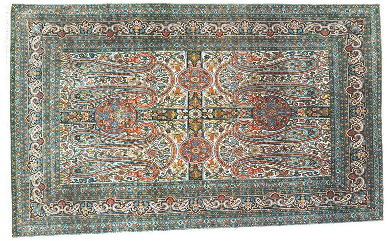Orientteppich Seide auf Seide antik superfein TOP (T011)