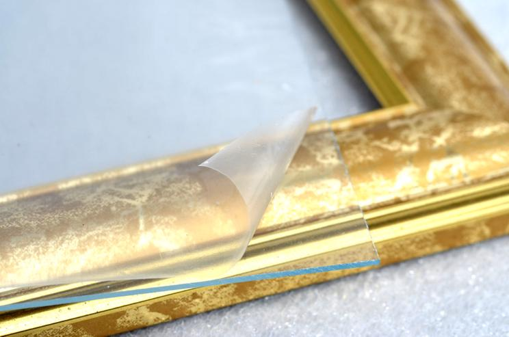 Bild 4: Bilderrahmen aus Kunststoff in Goldoptik 332 x 402 mm mit Plexiglasscheibe