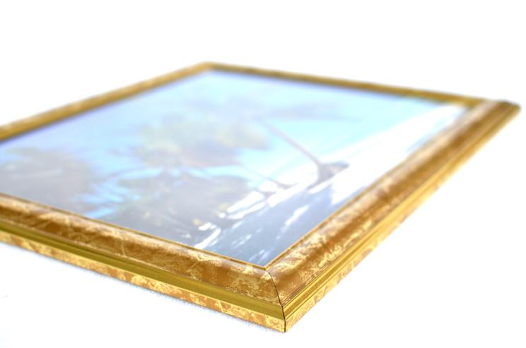 Bild 6: Bilderrahmen aus Kunststoff in Goldoptik 332 x 402 mm mit Plexiglasscheibe