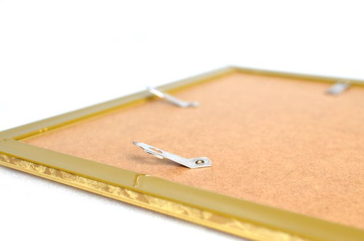 Bild 5: Bilderrahmen aus Kunststoff in Goldoptik 332 x 402 mm mit Plexiglasscheibe
