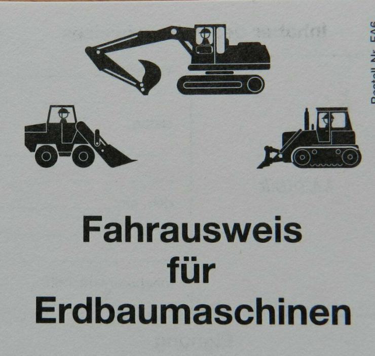 Baggerschein Ausbildung - Fahrausweis für Erdbaumaschinen - Gewerbe & Handwerk - Bild 1