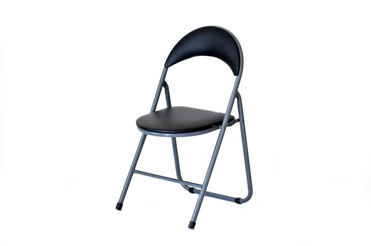 4 Klappstühle aus Metall, gepolstert - Stühle - Bild 1