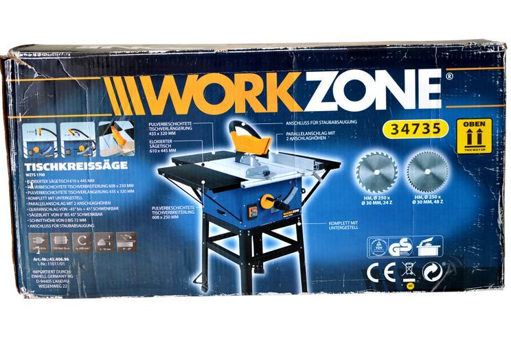 Bild 2: Tischkreissäge Workzone