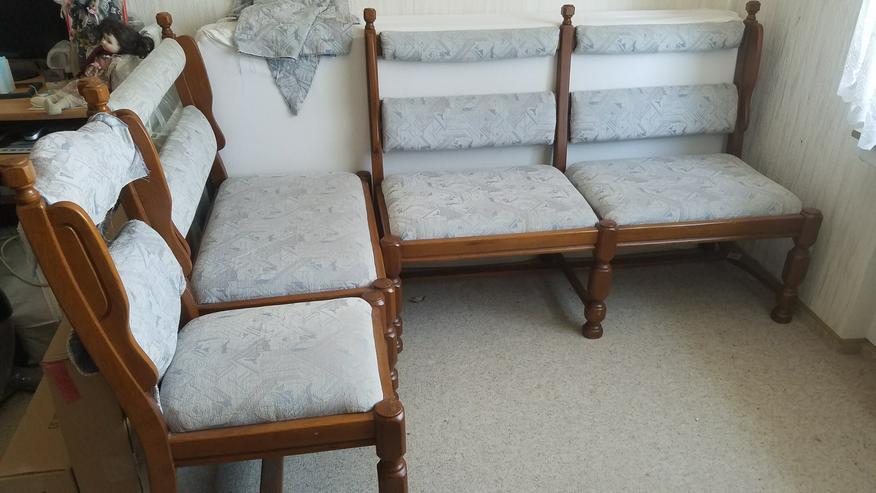 Bild 2: Eckbank altdeutsch (auch ohne Tisch) mit Tisch + 2 Stühlen
