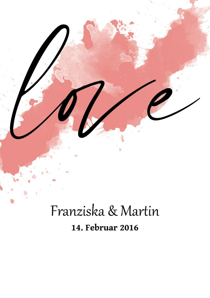 Poster LOVE personalisierter Kunstdruck -Namen personalisiert -