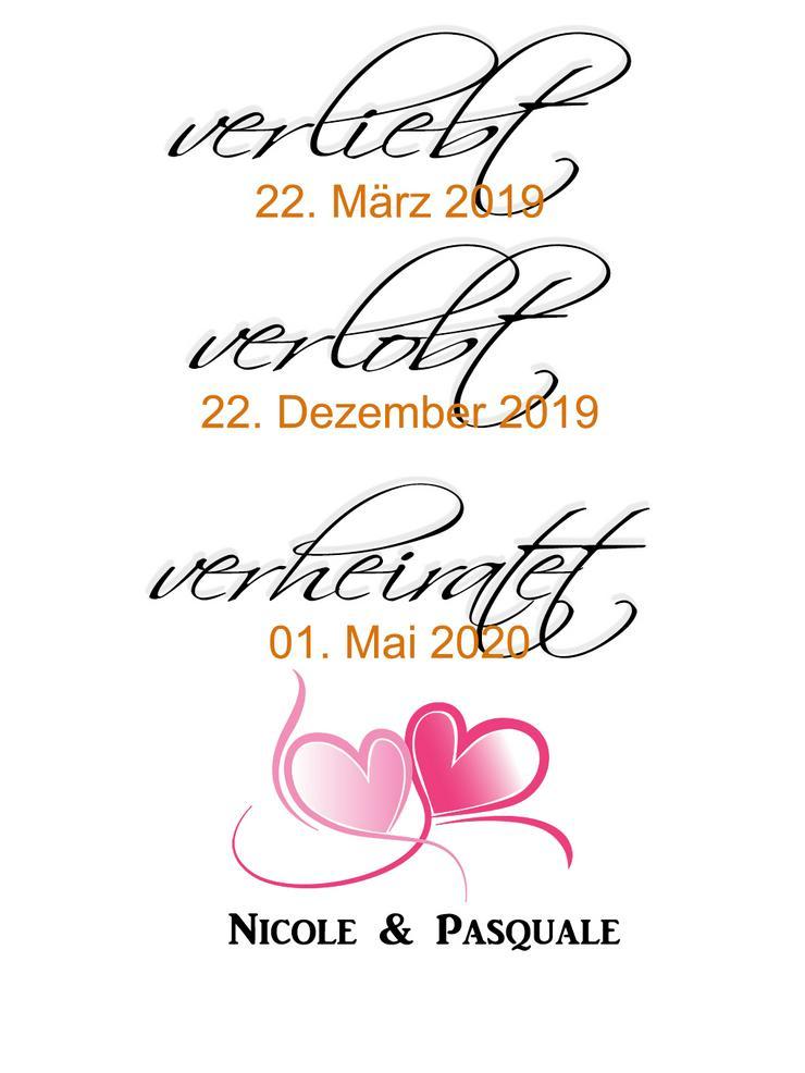Poster Verliebt-Verlobt-Verheiratet 40x30 cm personalisiert