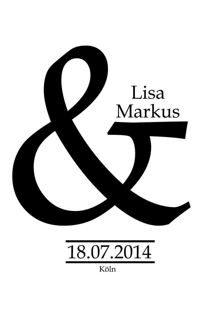 Poster personalisierter Kunstdruck  -Namen + Datum personalisiert