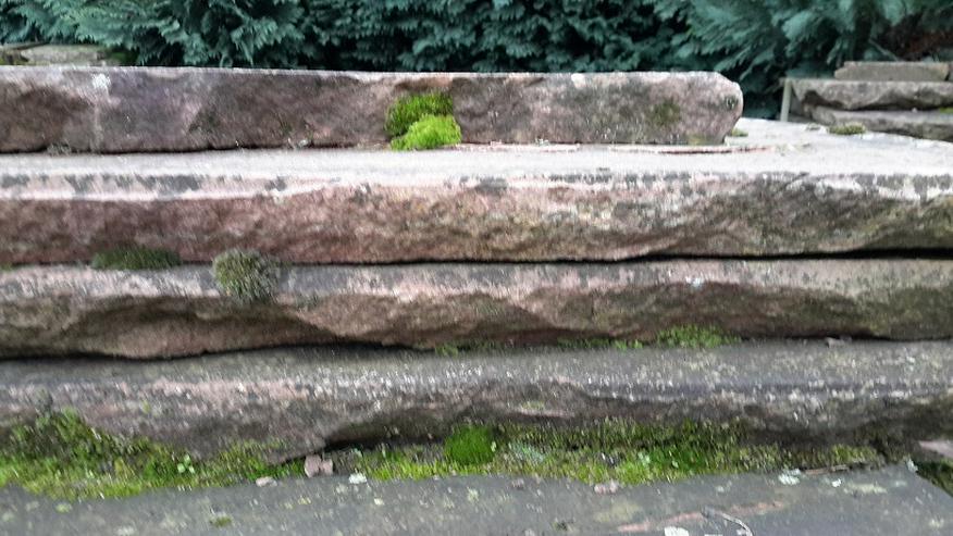 Bild 3: Natur Sandsteinplatten ca. 200qm, insgesamt 9 Paletten