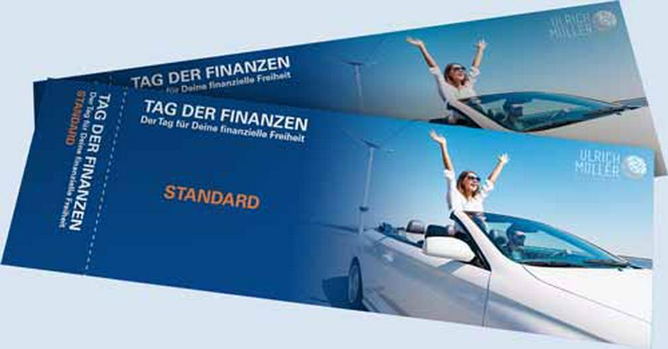 """Bild 2: 50% Rabatt-Code, Gutschein für Seminar """"Tag der Finanzen"""", Geld verdienen, finanzielle Freiheit"""