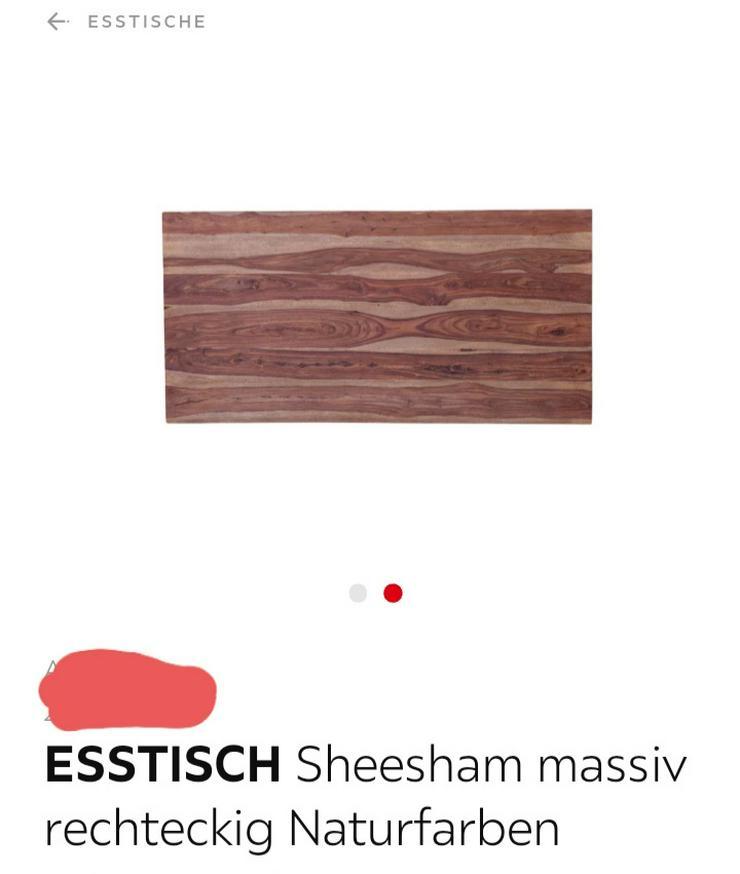Echtholzesstisch Akazie - Esstische - Bild 1