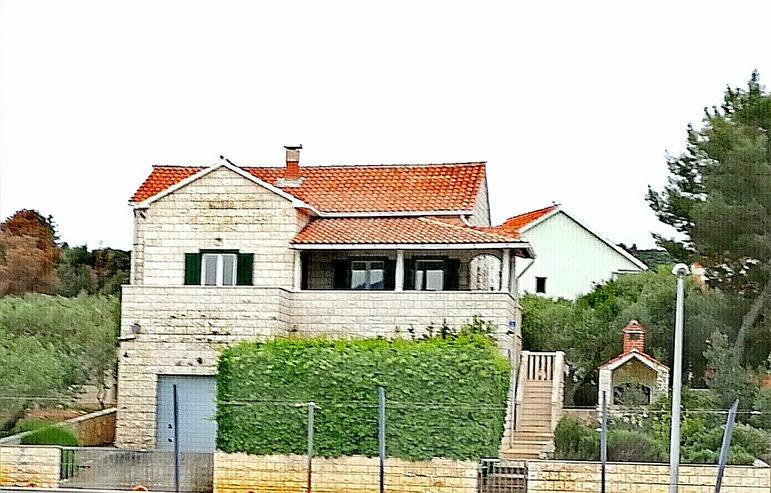 Kroatien, Insel Brac ,Splitska, exc. Haus mit 2 Wohnugen, mit herrlichem Blick auf die Adria
