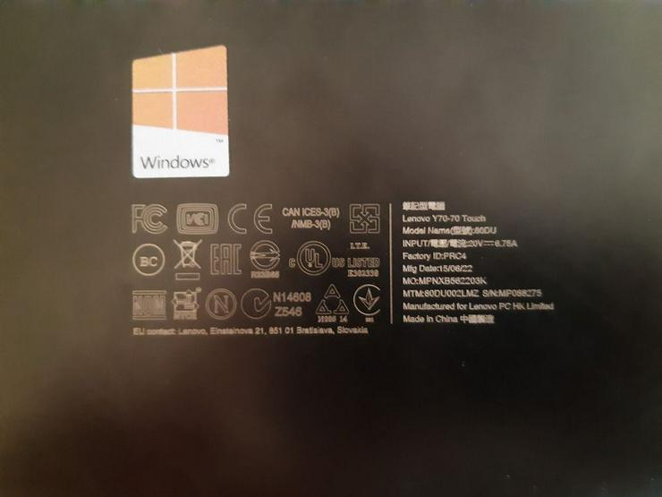 Bild 3: Gaming Notebook Lenovo y70-70