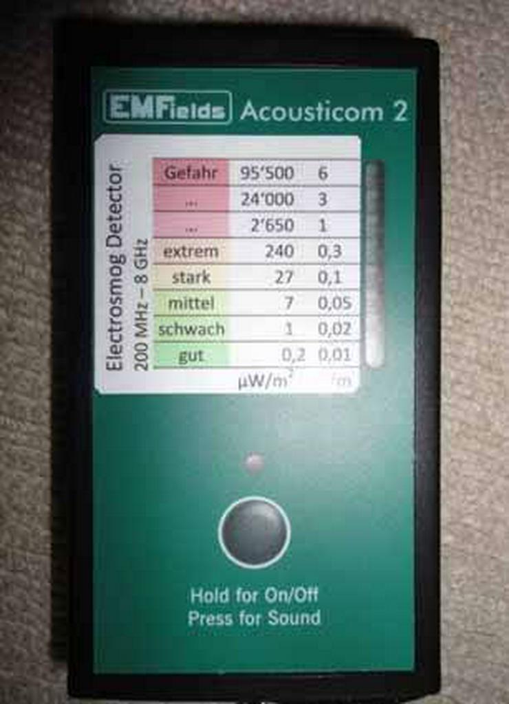 Acousticom 2, Messgerät für Handystrahlung, WLAN-Strahlung, 5G etc. - Esoterik - Bild 1