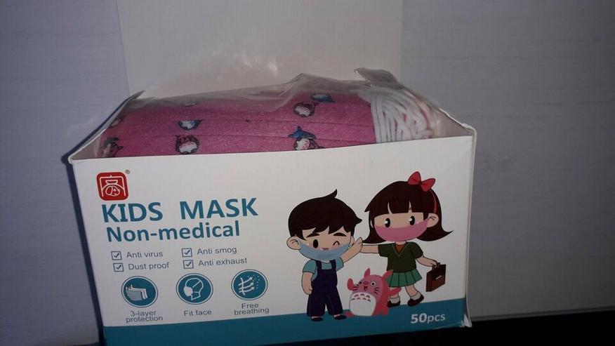 Mundschutz Masken Kinder Schutzmaske Jungen Mädchen bunt 3-lagig