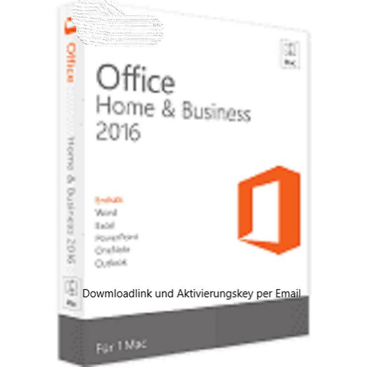 Microsoft OFFICE 2016 Home & Business für Mac Vollversion
