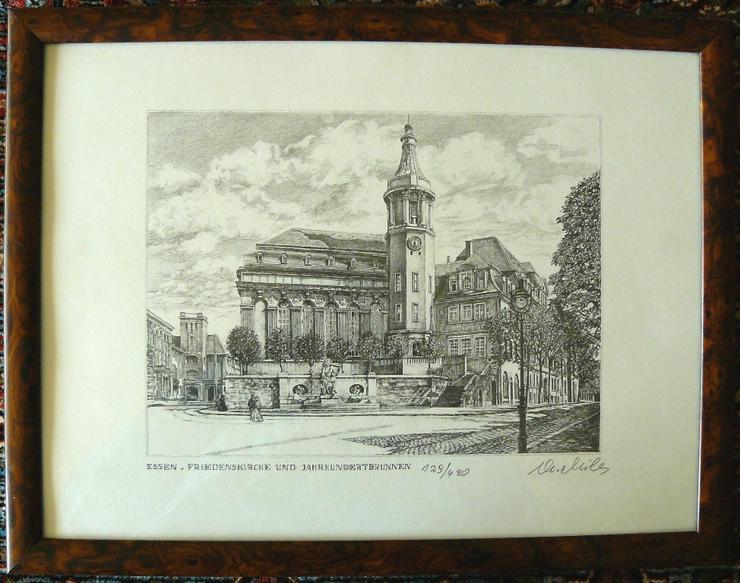 Friedenskirche Jhdt.-Brunnen Grafik (B087)