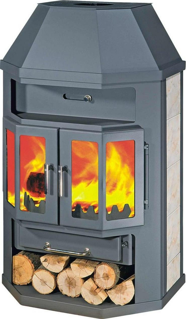 1A Kaminofen 14 KW Ofen Kamin für Haus Wohnung Werkstatt prehalle