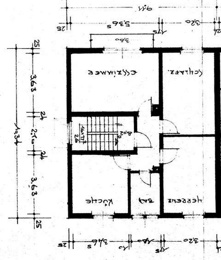 Bild 3: Doppelhaus-Hälfte, Weinheim-Weststadt, Grund ~377 qm, 3 Etagen, 3 abgeschlossene Wohneinheiten, ~75+75+55 qm, jeweils 3-ZKB, Spitzboden+Keller ausbaufähig, Balkon, Garage, Stellplatz, Garten