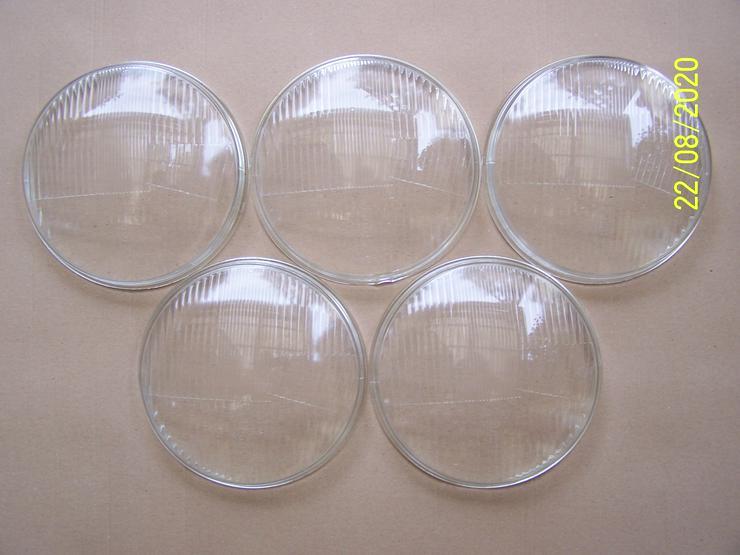 5 neue DDR Scheinwerfergläser Scheinwerfer Glas Streugläser E8 6401