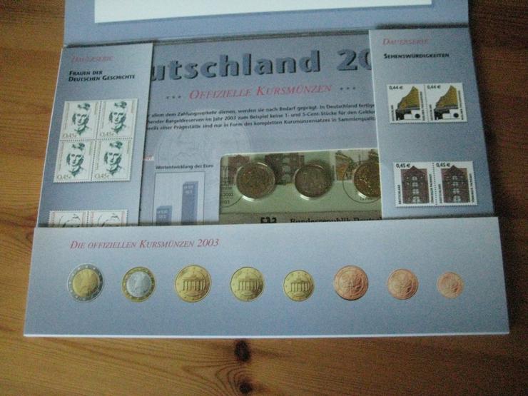Bild 2: 100 gold Euro 2017 & Gedenkmünzenset 2012 & Dauerbriefmarken 2003