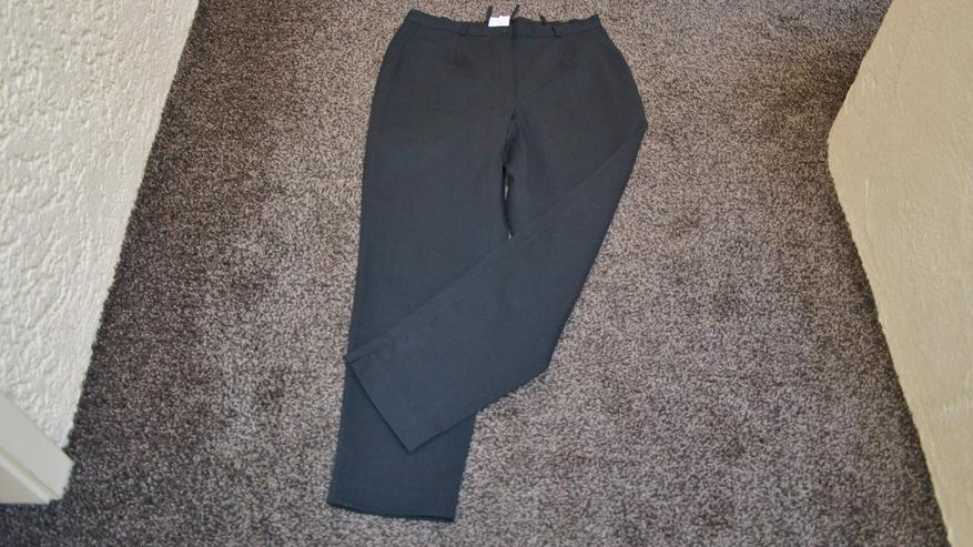 7/8 Hose, schwarz, Anzugqualität, hochw.