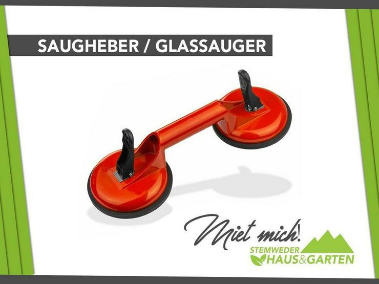 Saugheber Glassauger mieten