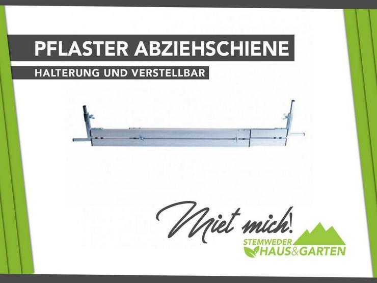 Profi Abziehschiene / Nivellierschiene mit Auflage - mieten - Geräte & Werkzeug - Bild 1