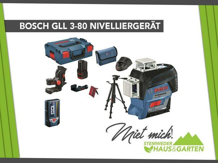 Bosch GLL 3-80 Nivelliergerät Nivellieren mieten
