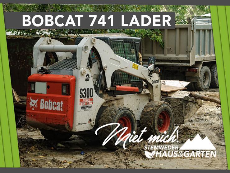Mieten Leihen Radlader Schranklader - Bobcat 741 - Baumaschinen & Baustelle - Bild 1